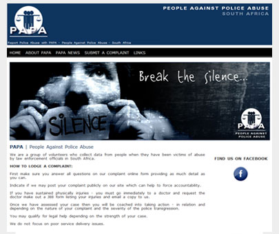 Report Police Abuse in South Africa